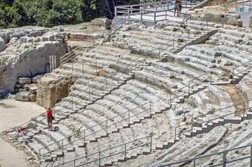 Greek theatre, Syracuse, Sicily ,Italy.