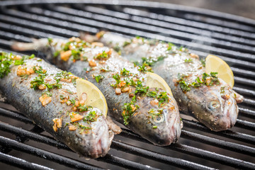 Baked fish with lemon and spices