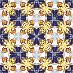 Beautiful symmetrical pattern of the flower petals in fractal de