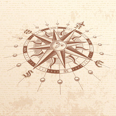 Vector Perspective Compass Rose