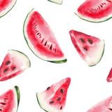 Fototapety watercolor watermelon pattern