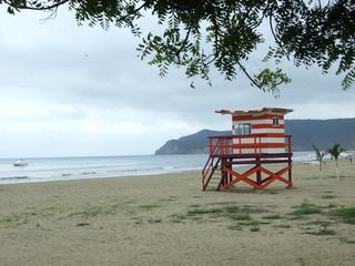 Torre de vigilantes de la playa