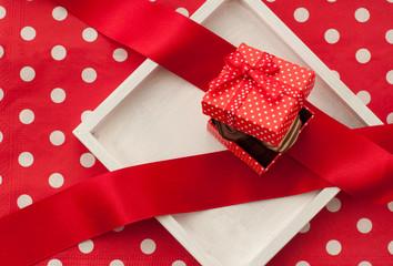 チョコレートの入ったギフトボックス