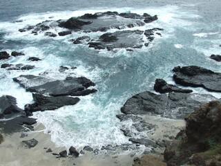 Playa natural en el Pacifico