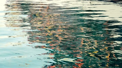Color reflection in the water