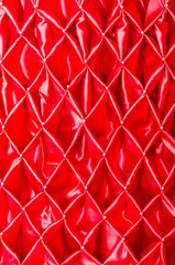 red satin folded pattern fabric art