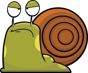 Cartoon Snail Grumpy