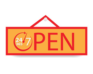Open 24 hours a day and 7 days and 365 day