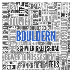 BOULDERN | Konzept Tag Word Cloud