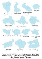 Gebietskarten von Tschechien