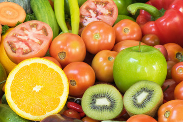 Fruits and vegetables organics