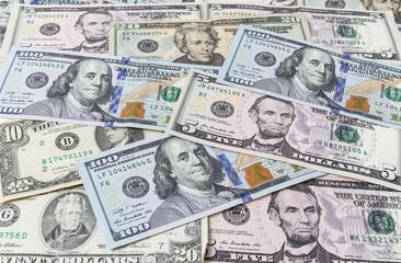 Background from dollar bills