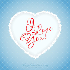Blue Valentines Day Greeting Card