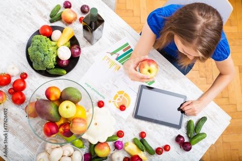 Leinwandbild Motiv Ernährungslehre