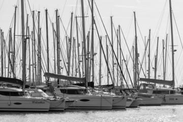 Italy, Sicily; 3 february 2015, luxury yachts - EDITORIAL