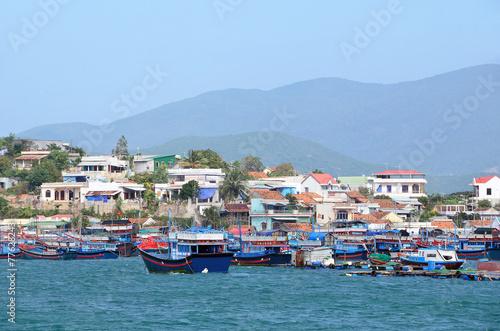 Постер, плакат: Вьетнам острова залива Нячанг, холст на подрамнике