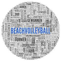 BEACHVOLLEYBALL | Konzept Tag Word Cloud