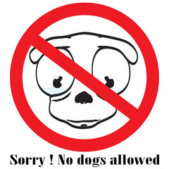 no dog sign button