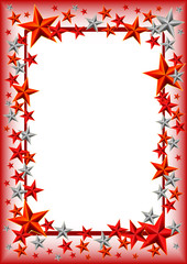 Holiday frame with stars on Defender of the Fatherland day