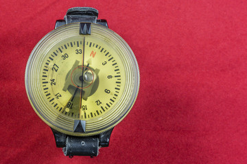 Vintage German WW2 airforce pilot wrist compass red
