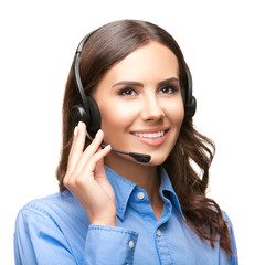 Support phone operator over white