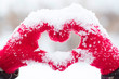 canvas print picture - Making heart symbol