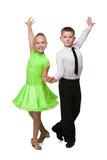 Two dancing children