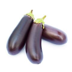Fresh eggplants closeup