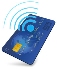 Credit card with contactless payment (3D)