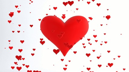 Flying Hearts Love and Valentine's Day