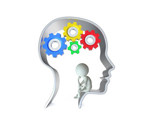 Person inside human head