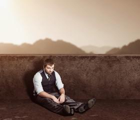 Man sitting on the floor