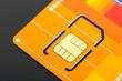 Yellow sim card