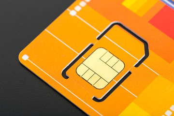 Yellow sim card