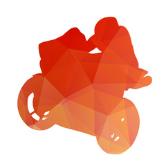 Abstract vector motorcycle silhouette