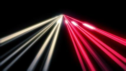 Long Exposure Night Highway Traffic. HD 1080. Loop.