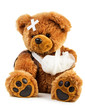 Leinwanddruck Bild - Teddy with bandage