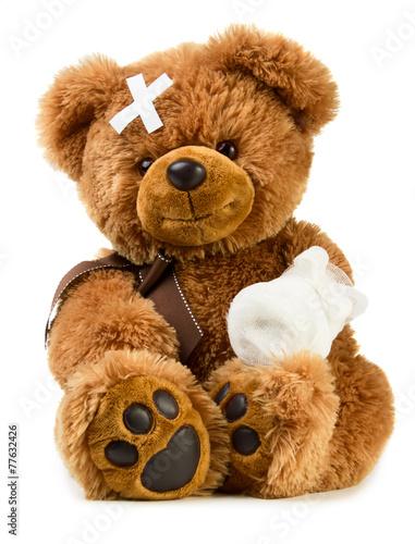 Teddy with bandage - 77632426