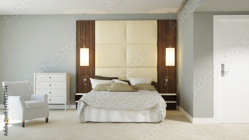 canvas print picture 3D Hotel Zimmer