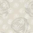 Little Rose beige background. Vector Illustration.
