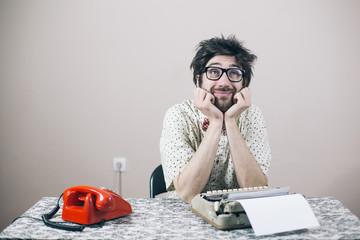 Thoughtful nerd writer