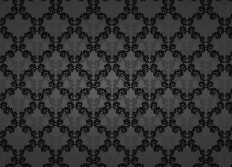 Barock schwarz Hintergrund Edel Luxus horizontal