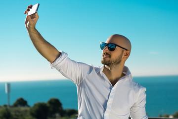 Selfie en la costa