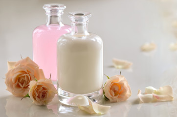 Cosmetic milk and toner
