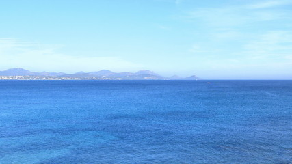 Blue Sea on a Beautiful Summer Day