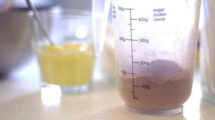 cocoa pour into a jar