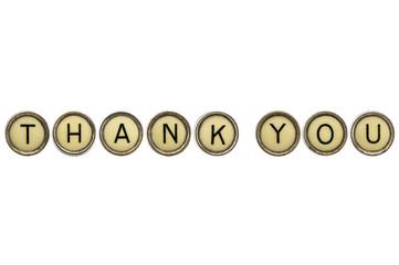 thank you in typewriter keys