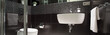 Leinwanddruck Bild - Black and white luxurious bathroom