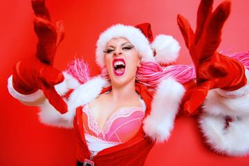 crazy santa girl