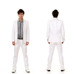 Fashion business man on white suit